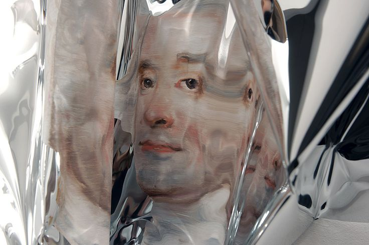 Martin C. Herbst's Distorted Oil Paintings on Aluminum Foil | Hi-Fructose…