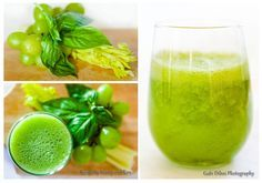 Day 6: Anti-inflammatory Grape and Basil Smoothie   2 celery ribs 1 cup fresh or frozen grapes (green or red) 5 leaves fresh basil (or mint or parsley) ½ cup of water
