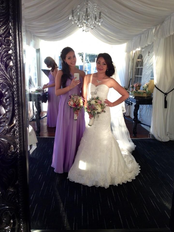 Me and my sister! Bride and my maid of honour