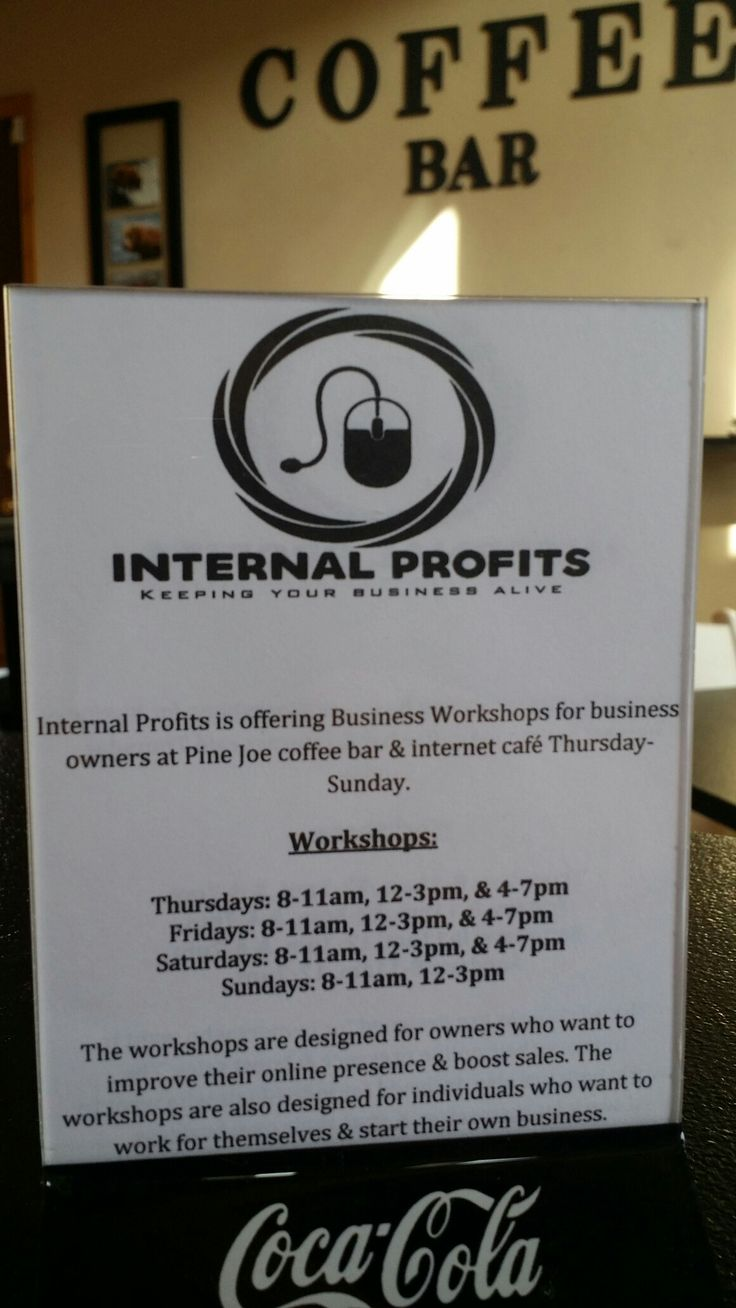 Digital marketing workshops at Pine Joe coffee bar in Pine, AZ. Start impacting your business today or start your own online marketing company at a price that won't break the bank. Time to get inspired!  If you're unable to attend our workshops, call for a free 30-minute consultation or visit our website.  #internalprofits #businessmarketing #workshops #onlinemarketing #roi #seo #success #marketing #branding #consulting #phoenix #scottsdale #arizona #california #colorado #texas #pinejoe