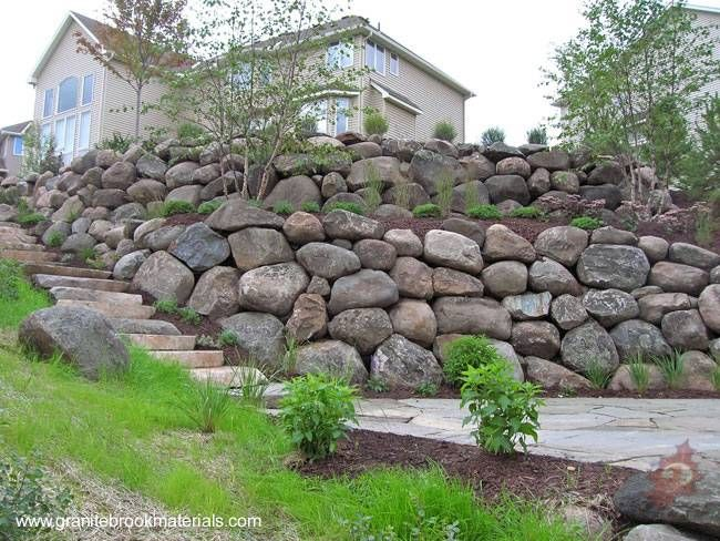 Terrazas Con Muros De Contencion Muro De Contencion De Piedra Muro De Contencion Muros De Piedra