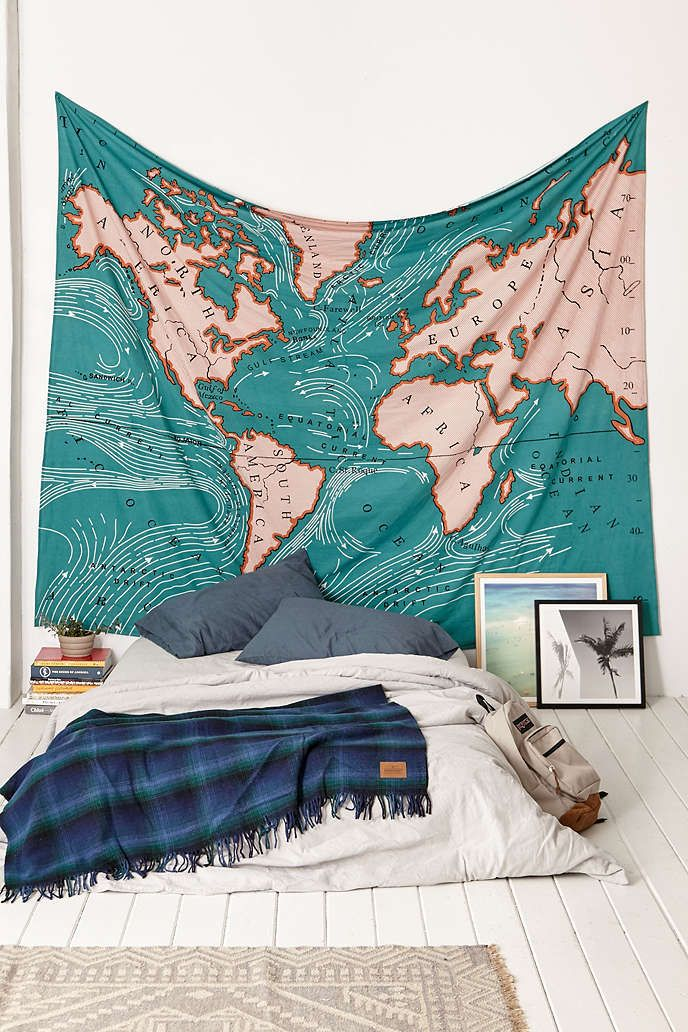 Wal tapestry from UrbanOutfitters. Great for our travel themed office/guest bedroom