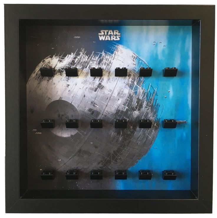 Lego Star Wars Death Star Minifigures Frame     The ultimate solution to your #Lego #minifigures Star Wars. Show them in an organized way and keep them safe and dust free. Select a custom layout and color for your Lego minifigures set. #LegoMinifigures #StarWars #LegoStarWars #minifigs #LegoMinifigs