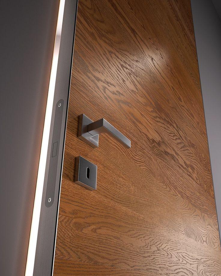 Hinged flush fitting wooden door bisystem garofoli for Flush interior wood doors