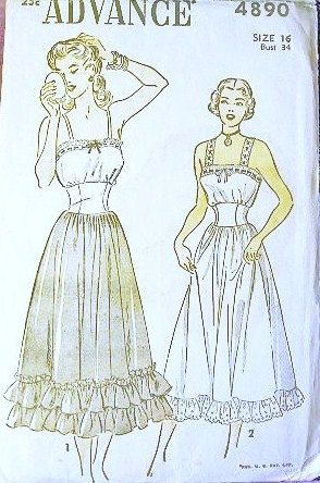 Advance Sewing Pattern 4890, 1948 ✓