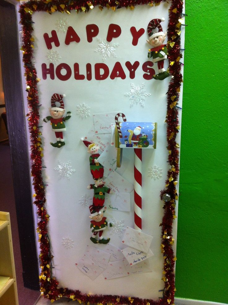 Easy decoration for the office cubicle. The hooks poke ...  Cute Christmas Decorations For The Office
