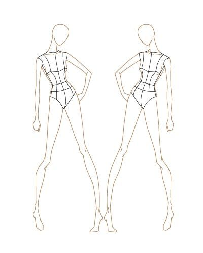 fashion sketch templates fashion illustration pinterest
