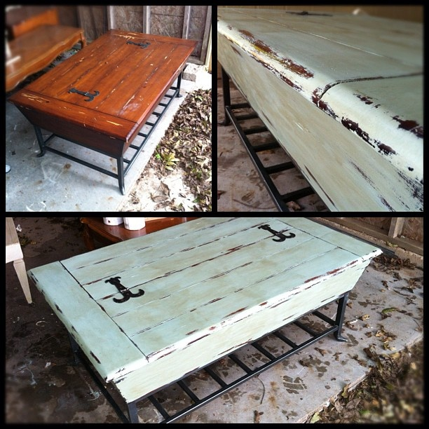 French Linen Chalk Paint Coffee Table: Painted Coffee Table Before & After. I Used Annie Sloan