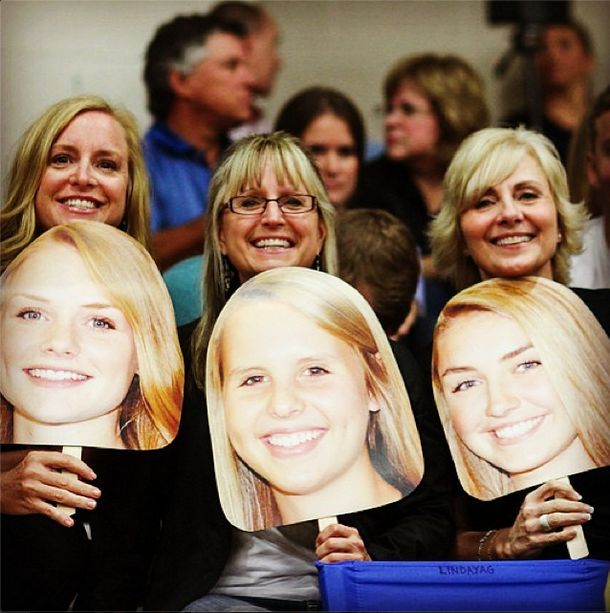 Awesome idea from the volleyball moms on senior night with BuildAHead.com. Just 1 for $7.99 or 3 for $11.99