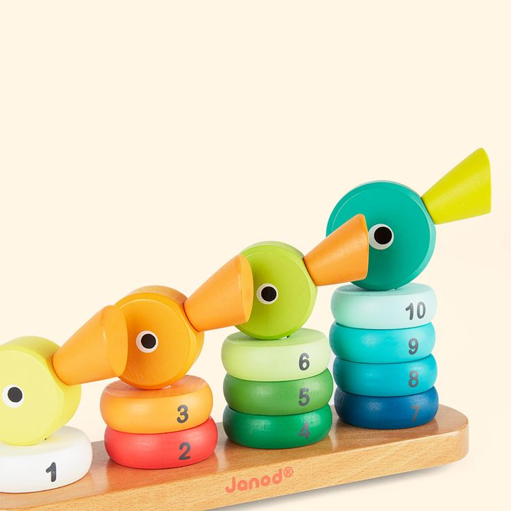 Janod Wooden Duck Family Stacker Multi