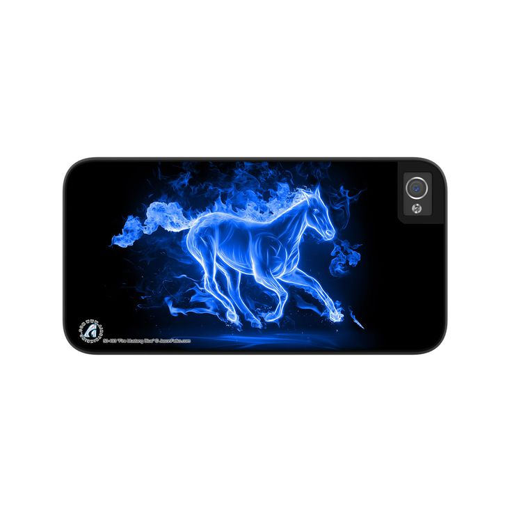 Airstrike® Fire Mustang Blue Horse iPhone 5 Case, Blue Mustang iPhone 5s Case, Fire Horse iPhone 5 Case Protective Phone Case Fire Mustang Blue-50-493
