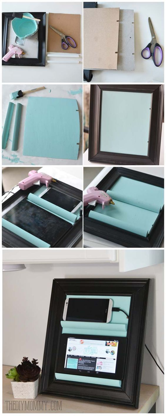 DIY Gifts for Teens - Tablet Holder from a Picture Frame - Cool Ideas for Girls and Boys, Friends and Gift Ideas for Teenagers. Creative Room Decor, Fun Wall Art and Awesome Crafts You Can Make for Presents http://diyprojectsforteens.com/diy-gifts-for-teens #artsandcraftsgifts,