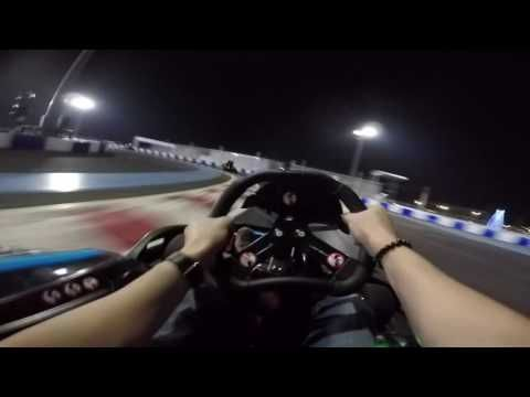 We smacked some electric go-karts at the Impact Speed Park, Bangkok