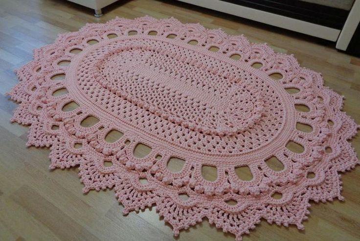 Tapete de crochê modelo russo | Linhas com arte | Elo7