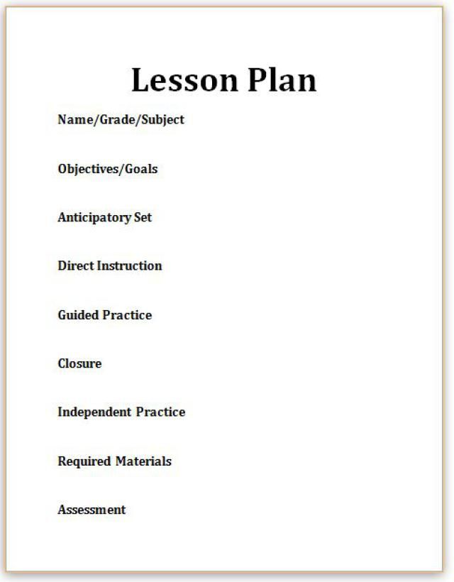 6 point lesson plan template - 17 best ideas about blank lesson plan template on