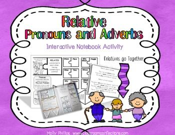 I purchased this activity and love it!. It is a fun and engaging way to help students understand relative pronouns.