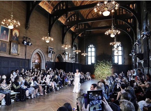 """""""There are about 10 shows a day during Bridal Fashion Week, all at different venues. We try to attend all of them. This is the Claire Pettibone show. To say the show was breathtaking is an understatement. I'll try to post a video here later today."""" - Regis Chen"""