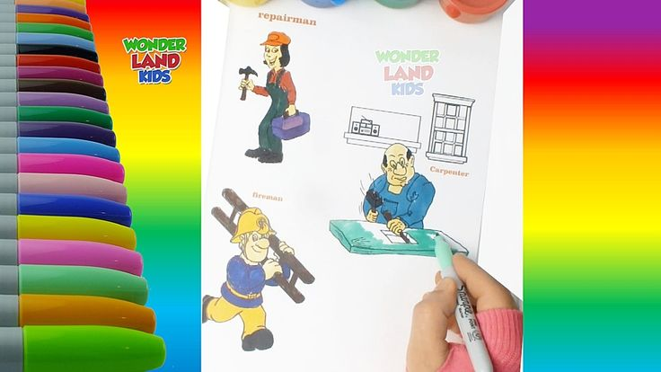 Learning professions with Colors  for  Preschool kids / Educational chil...