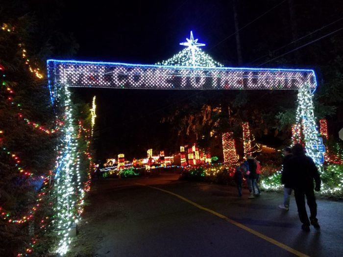 With over 1 million lights being featured, this is the largest display in the Pacific Northwest.  Stanwood, WA