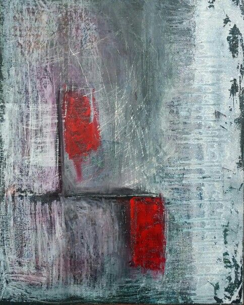 Abstract - oil on canvas board