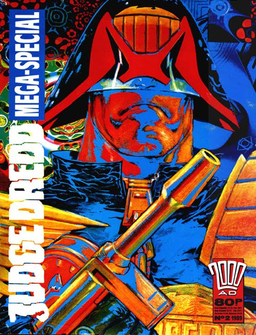 Brendan McCarthy's cover for Judge Dredd Mega-Special 1989