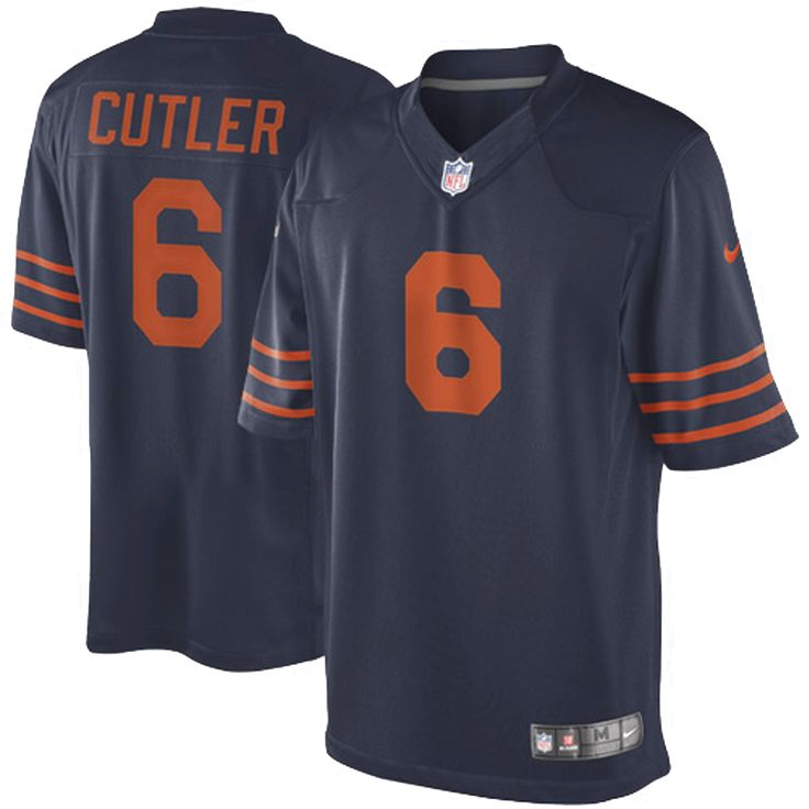 Nike Jay Cutler Chicago Bears Youth Throwback Game Jersey - Navy Blue - $74.99