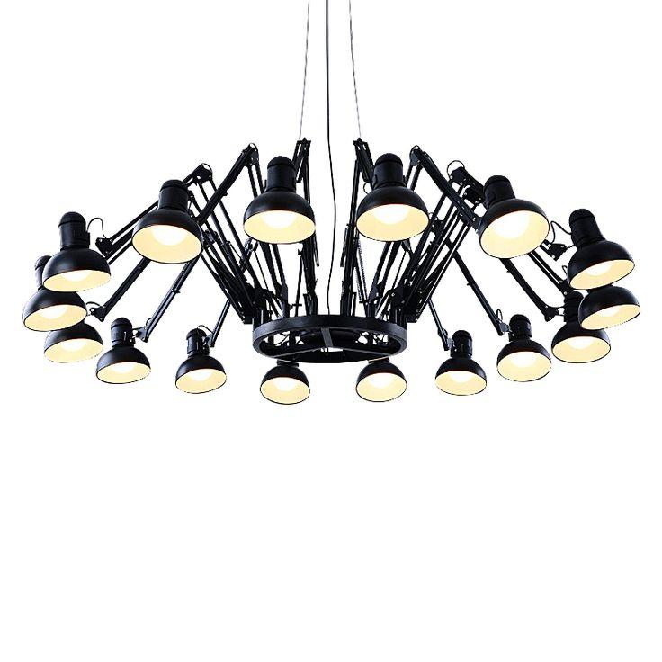 Wunderland Moderne Mode Anhänger Kronleuchter Licht Eisen Personalisierte  Versenkbare Spinne Kunst Deco Lampe Köpfe PLL 20 In Wunderland Moderne Mode  ...