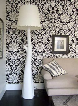 Blanton Hall Damask may initially seem like any other 18th Century damask design, but wait! All its elements float independently on the rich ground colors, adding a wonderful sense of depth and spaciousness to any room. Colored in traditional reds and graphic black