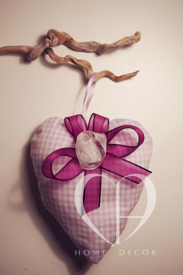 Soft heart in fabric