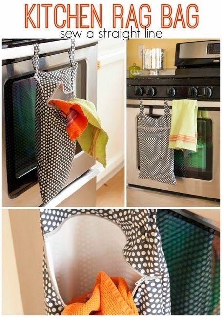 kitchen rag bag sew a straight line