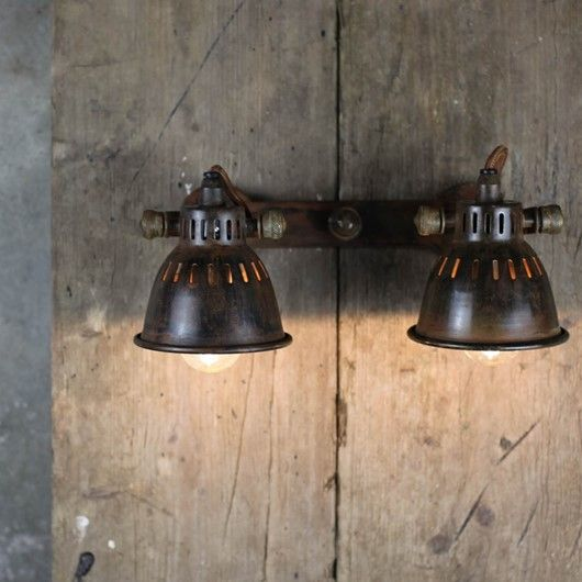 Tubu Brass Double Spot Light  Lots of really great Rustic lighting with Nkuku Sue - so please see link below - can obviously match or beat their RRP if you order through me!