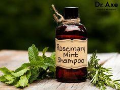 Homemade Rosemary Mint Shampoo     6 oz Aloe Vera Gel     3 Tbsp Olive Oil     10 Tbsp Baking Soda     20 drops Rosemary Oil     10 drops Peppermint Oil     BPA free plastic dispenser bottles