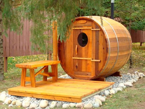 Rozycki Woodworks Bent Stave Barrel Sauna Delivered To Northern Minnesota Equipped With An