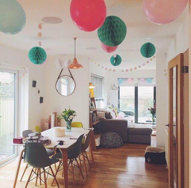 Zoella birthday party dining room decoration