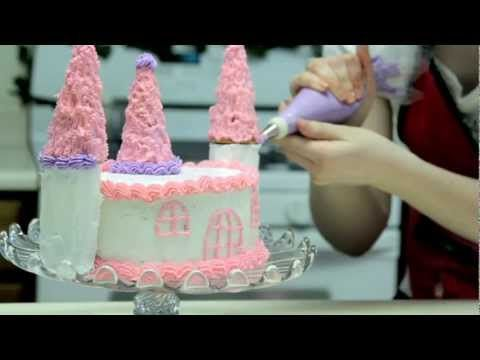 How to Make a Simple Princess Castle Cake