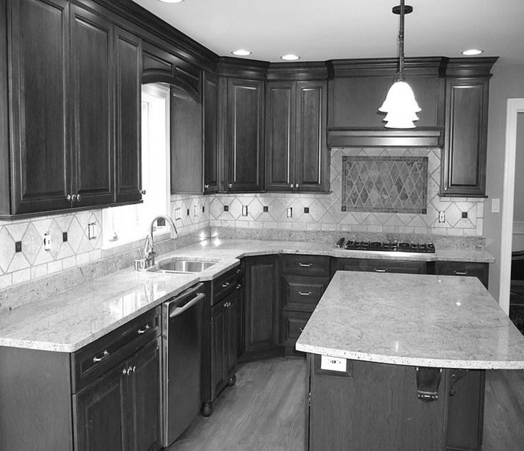 Kitchen, Traditional Black L Shaped Kitchen Design Ideas With Kitchen  Island Ideas With Granite Countertop Part 57