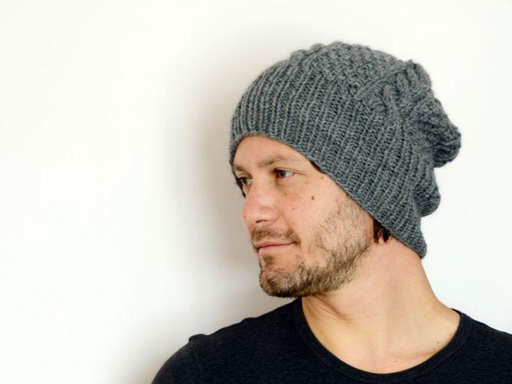 Berretto fisherman unisex, misto lana/alpaca grigio