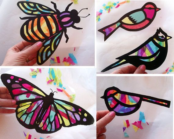 Kids craft stained glass
