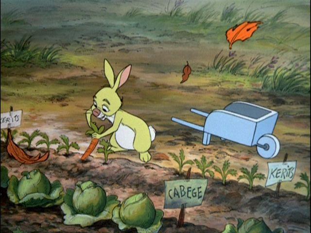 Rabbit In His Garden Harvesting Quot Kerits Quot In 2019