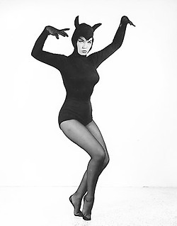 Bettie Page in costume (1950s)