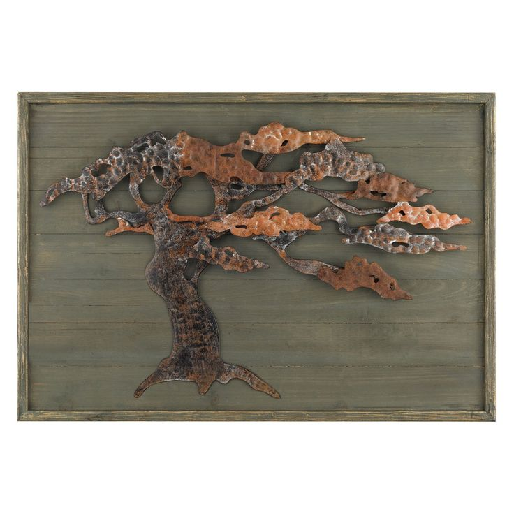 Sterling Wood and Metal Tree Wall Art - 138-173