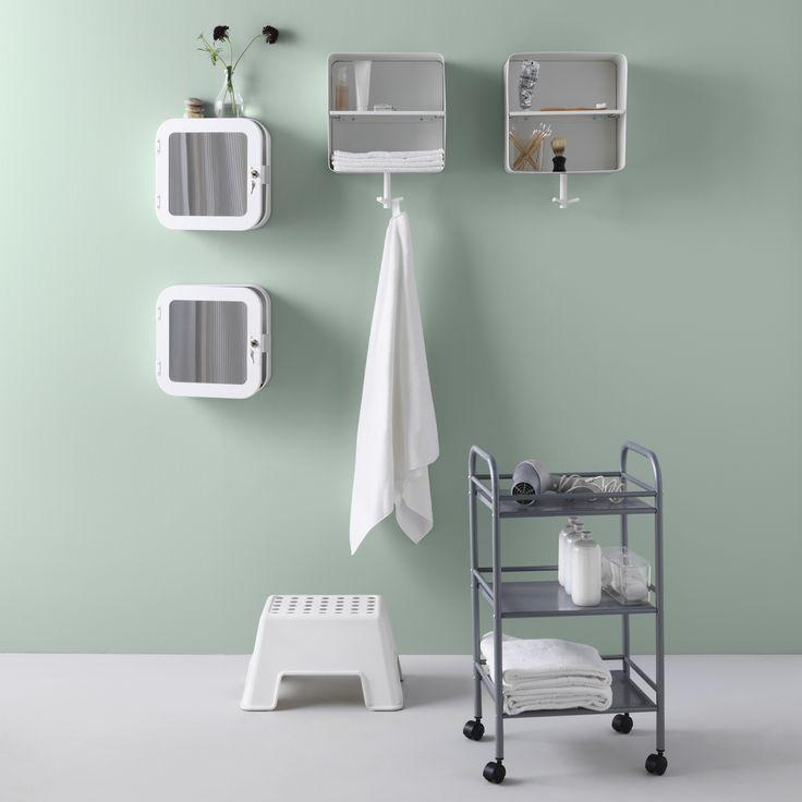 Dentro o colgadas,  BRICKAN guarda tus toallas.