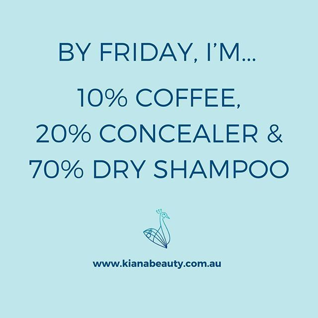 Coffee, concealer and dry shampoo. What gets you through your week? ☕️