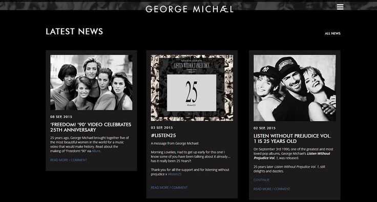 In celebration of 25 years since 'Listen Without Prejudice', the official George Michael website has had a makeover. Head on over to take a look around...(link in bio) #listen25