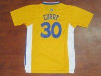 Golden State Warriors #30 Stephen Curry Classical Yellow Short Sleeve NBA Jersey [F155]