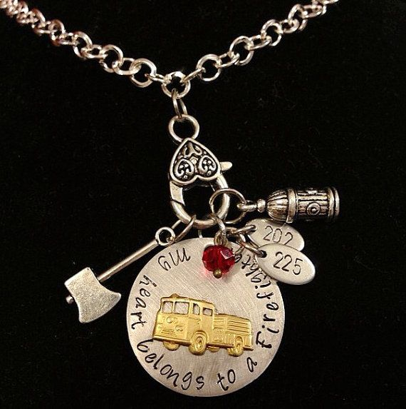 shield cross wife girlfriend american firefighter necklace maltese badge department gift fireman fire