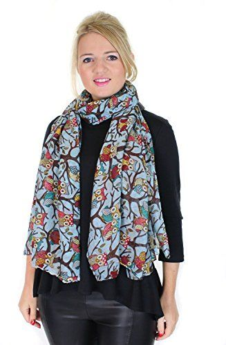 Owl On a Branch Print Ladies Fashion Scarf (Light Blue) Glam Fashion Accessories http://www.amazon.co.uk/dp/6042588028/ref=cm_sw_r_pi_dp_K4jJub1NC5DBQ
