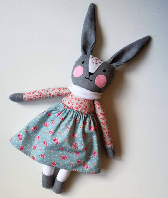 Bunny Rabbit Toy Doll Stuffed Animal Bunny Girl named Emilia