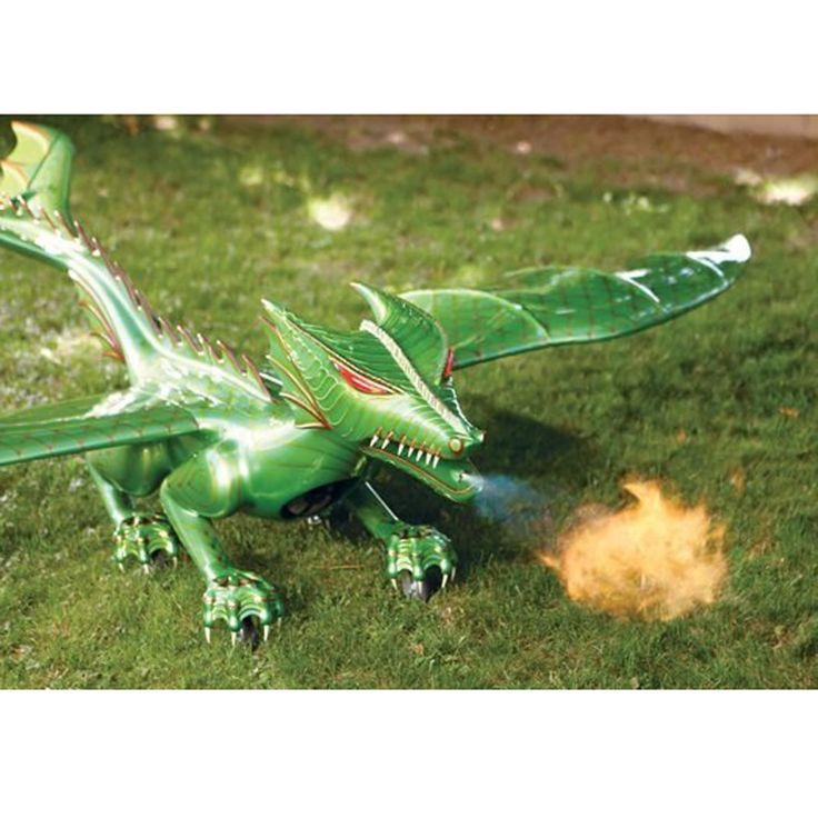 The Flying Fire Breathing Dragon - This is the remote controlled jet-powered dragon that soars through the air at up to 70 mph and belches propane-powered flame when on the ground. - Hammacher Schlemmer