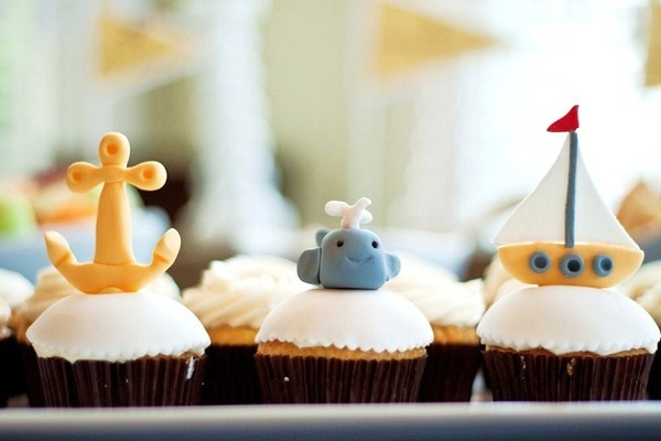 Nautical baby shower: Boy Baby Showers, Babies, Baby Shower Cupcakes, Nautical Cupcake, Baby Whale, Baby Shower Ideas, Nautical Ideas, Nautical Baby Showers, Baby Shower Brunch